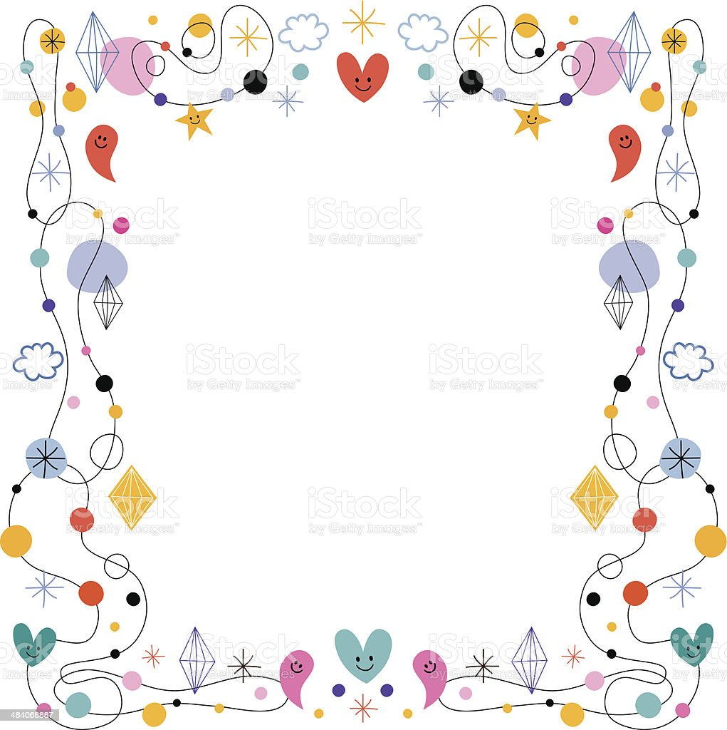 Abstract Art Cute Frame Stock Vector Art & More Images of 1950-1959 ...