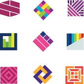 Abstract art logo template symbol be different decoration icon
