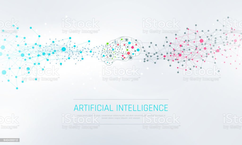 Abstract Artificial Intelligence Background vector art illustration