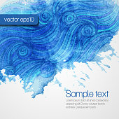 Abstract artistic Background with watercolor blots