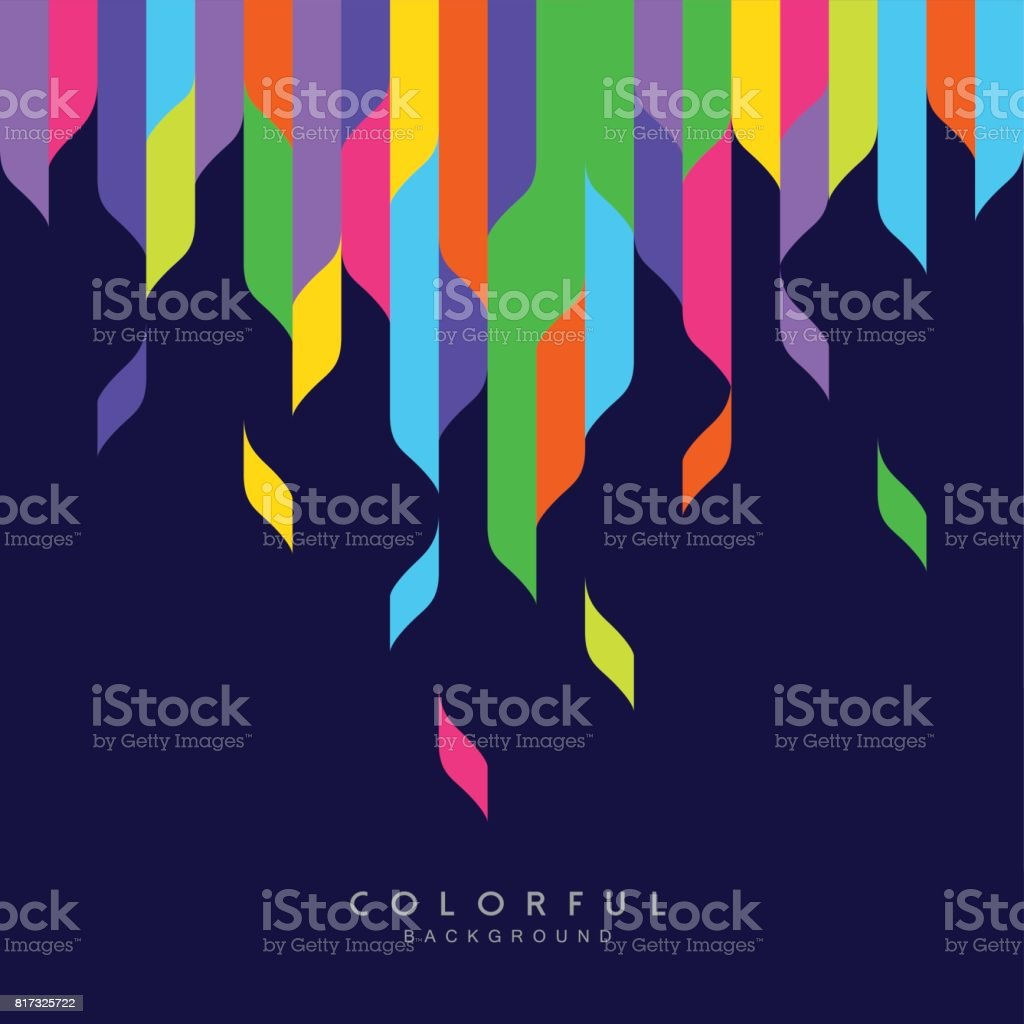 Arte abstracto colorido fondo - ilustración de arte vectorial