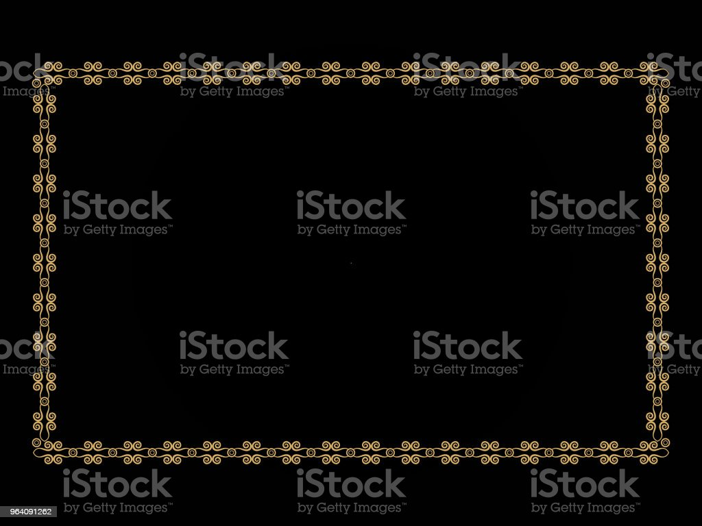 abstract artistic creative golden border - Royalty-free Abstract stock vector