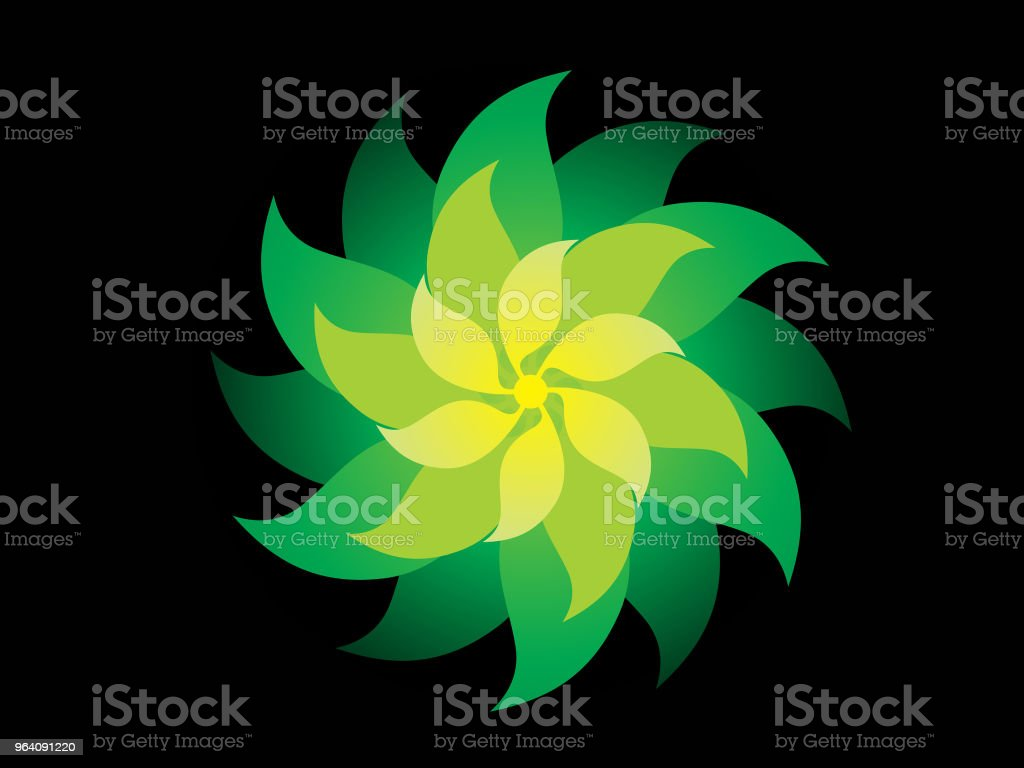 abstract artistic creative green flower - Royalty-free Abstract stock vector