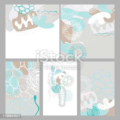 istock Abstract artistic creative universal cards. Vector  illustration 1198842527