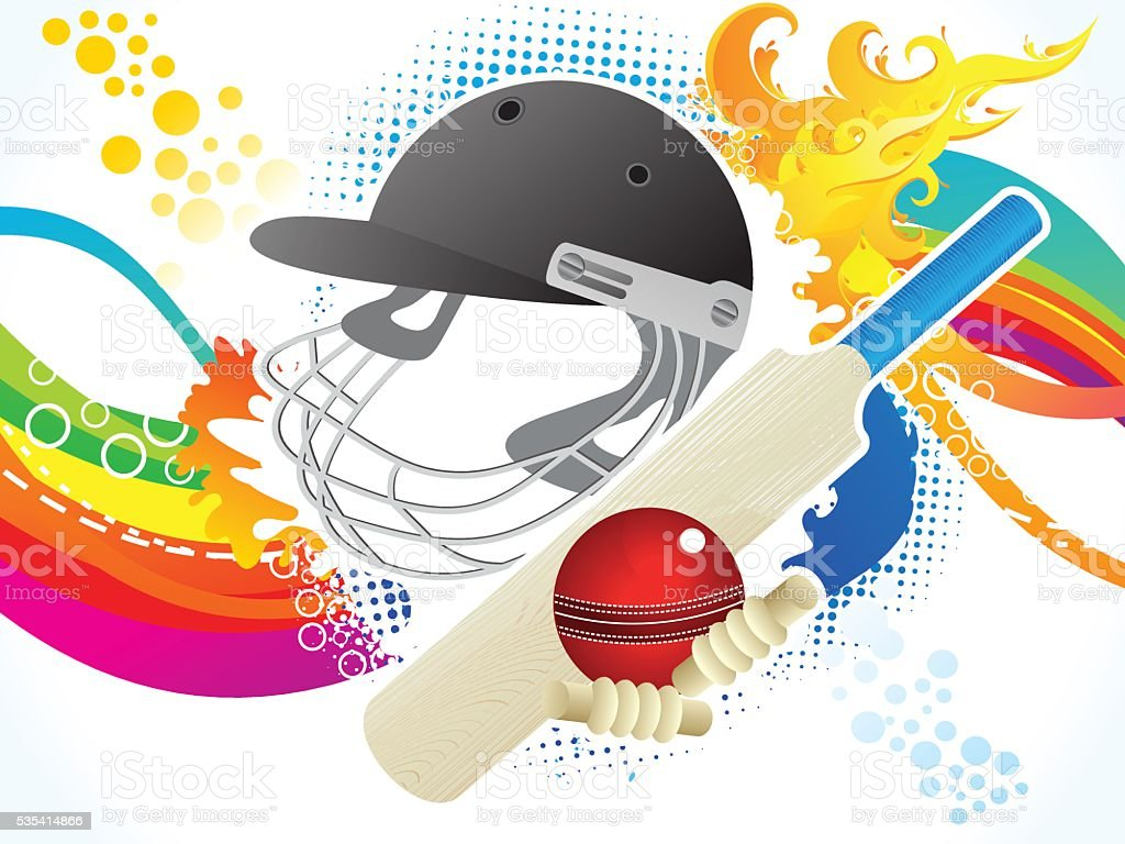 Abstrait artistique de fond de Cricket - Illustration vectorielle
