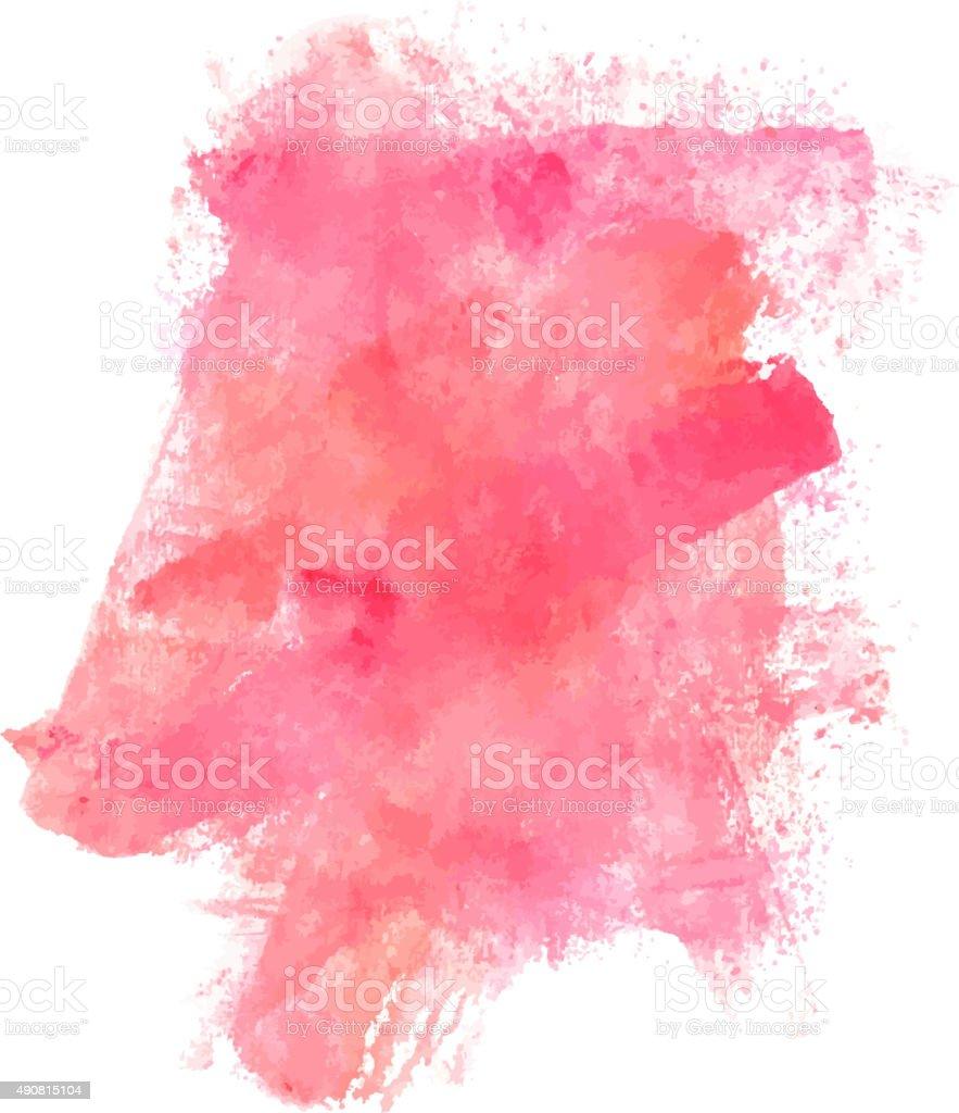 Abstract artistic pink watercolor stain vector design - Gama de colores rosas ...