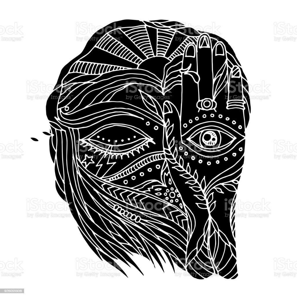 Abstrakte Kunst Offnen Schliessen Die Augen Und Geist Mensch Mit