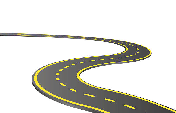 Royalty Free Long Road Clip Art, Vector Images ...