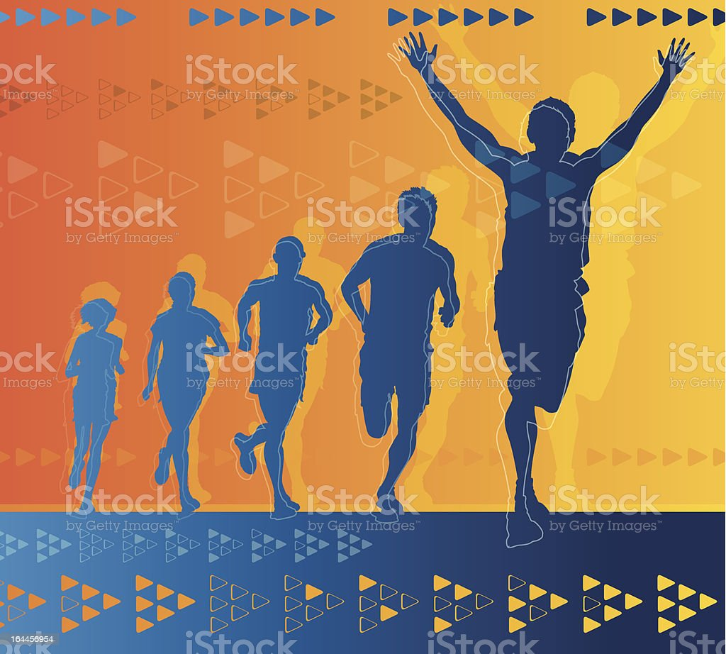 Abstract Athletes royalty-free stock vector art