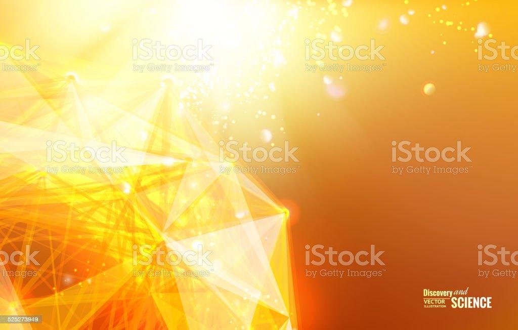 Abstract atom design. vector art illustration