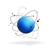 Abstract atom. Molecule model
