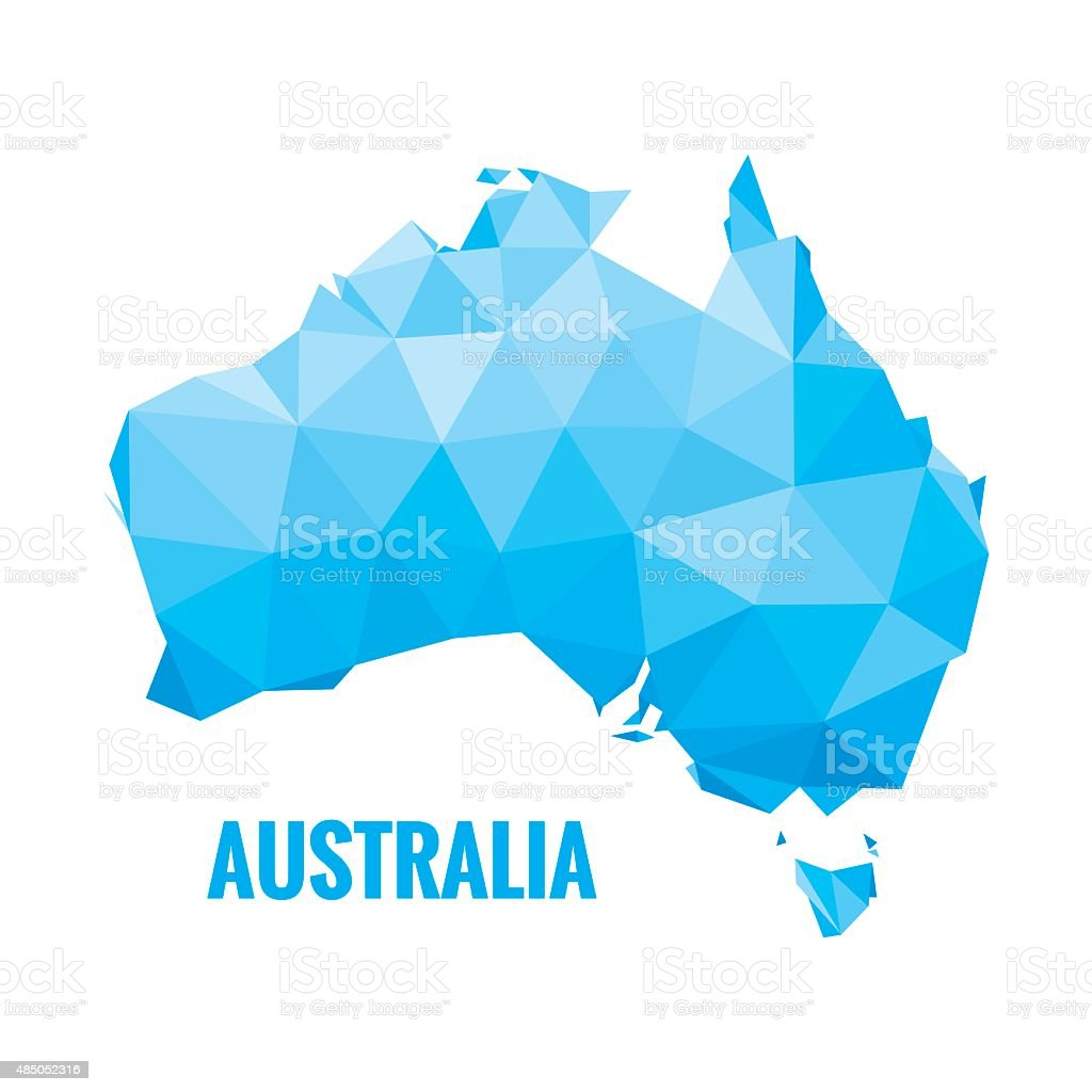 Abstract Australia map - vector illustration. vector art illustration