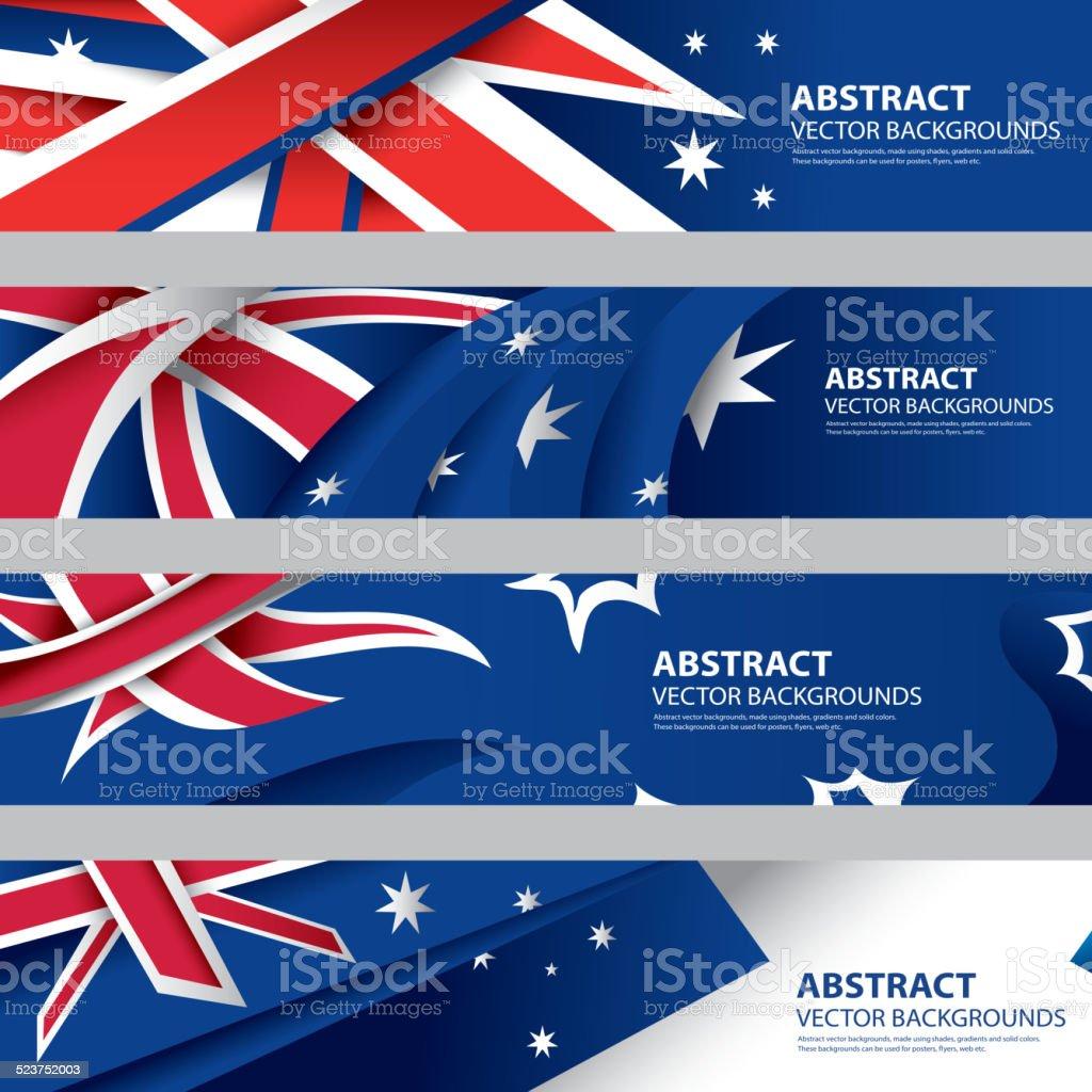 抽象的なオーストラリア国旗、オーストラリアのアート(ベクター素材) ベクターアートイラスト