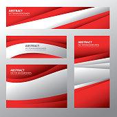 Abstract Austria Flag, Austrian Colors (Vector Art)