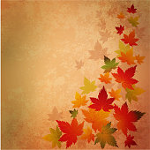 Vector Abstract autumn vintage background