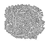 istock Abstract Aztec Pattern Drawing 1279976032