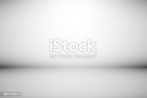 istock Abstract backdrop gray background. Minimal empty space with soft light 1301422012