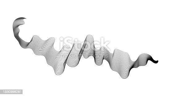 istock Abstract backdrop with wave gradient lines 1330998281