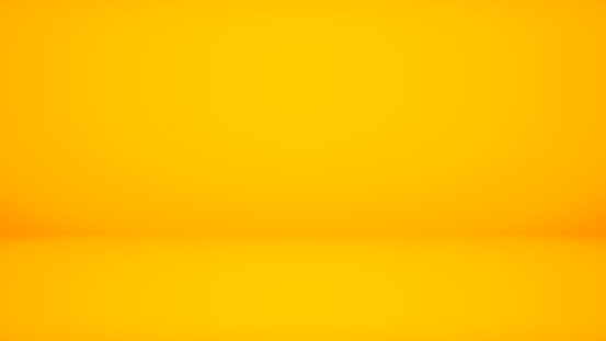 Abstract backdrop yellow background. Minimal empty space with soft light