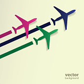 Abstract Background - Airplanes