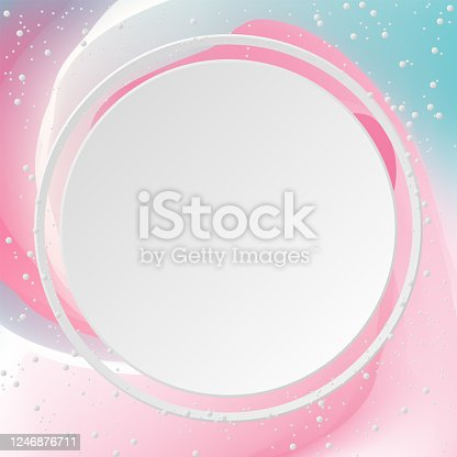 Abstract background and circle. Color sweet, Vector illustration. Background colorful.