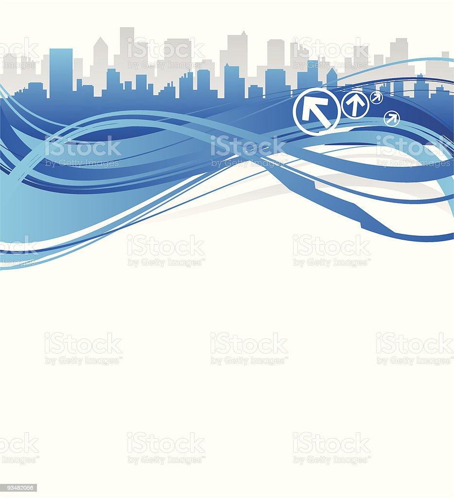 Abstract background and city royalty-free stock vector art