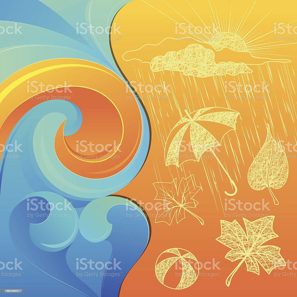 Abstract Background and Weather Clip-art royalty-free stock vector art