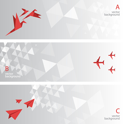 Abstract background banner set