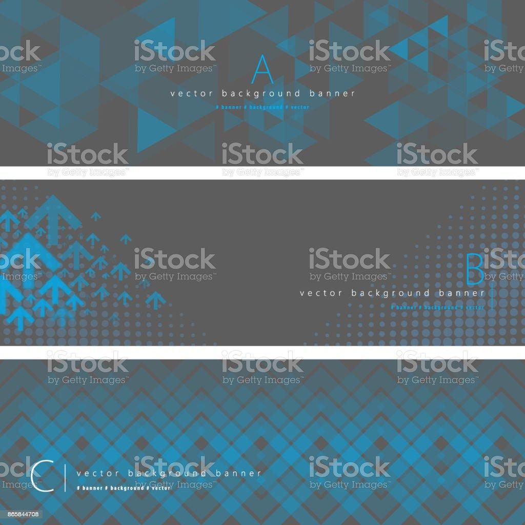 Conjunto de bandeira abstrato - ilustração de arte em vetor