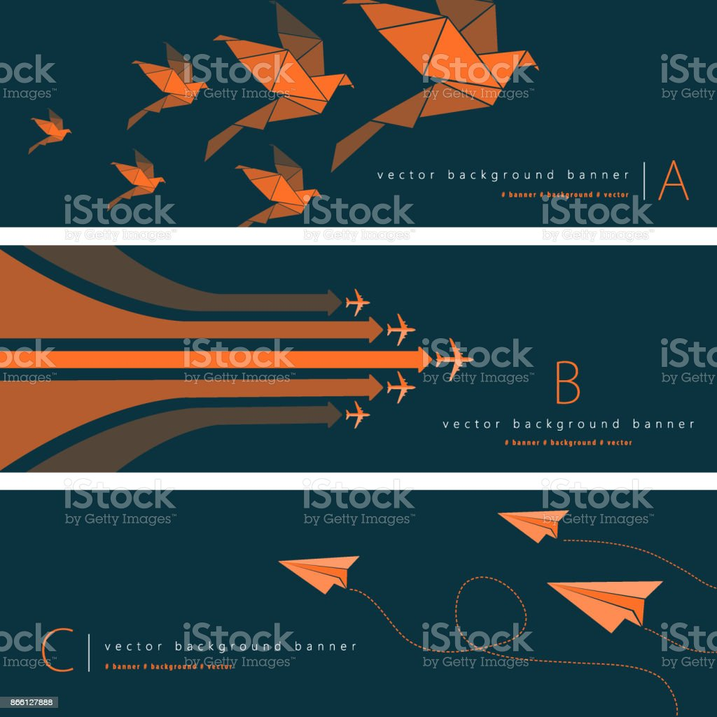 Abstract background banner set vector art illustration