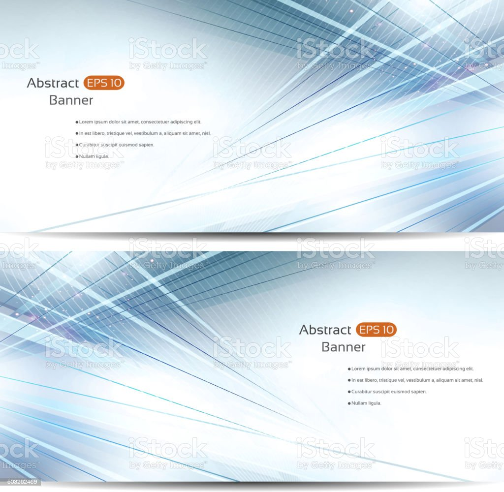 Abstract background banners vector art illustration