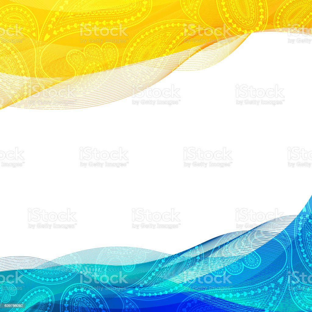abstract background blue and yellow transparent waved line brochures website stock vector art. Black Bedroom Furniture Sets. Home Design Ideas