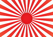 Abstract Background Cartoon Sunlight Japan Style. Vector Illustration.