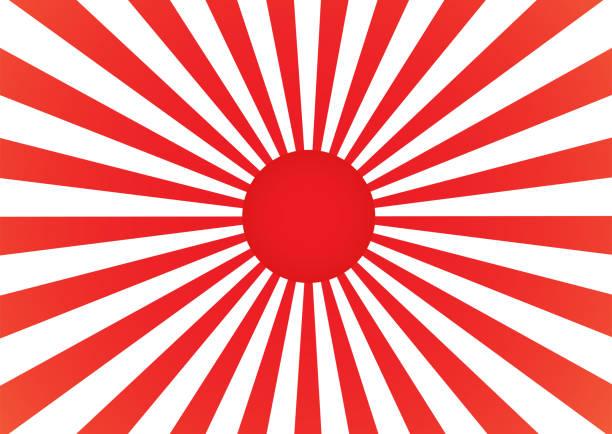 illustrazioni stock, clip art, cartoni animati e icone di tendenza di abstract background cartoon sunlight japan style. vector illustration. - giappone
