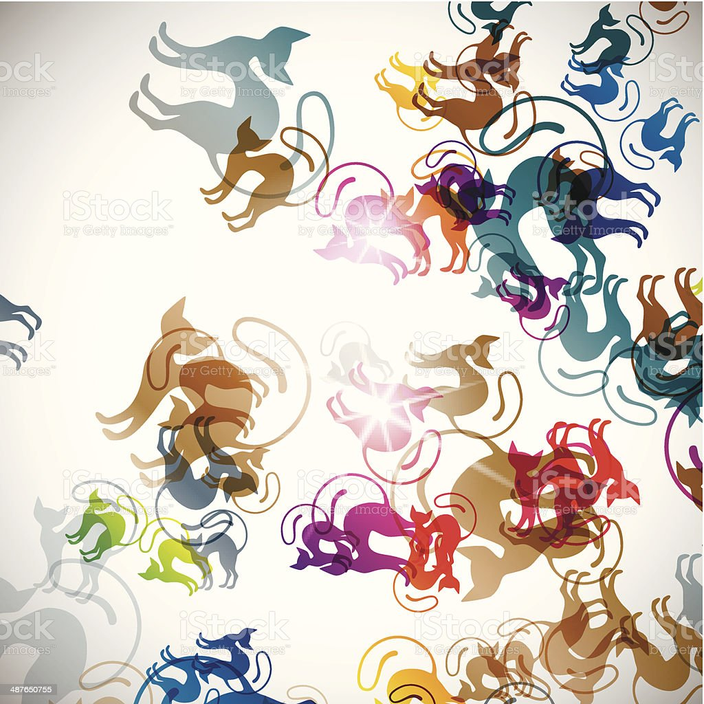 abstract background: cat royalty-free stock vector art
