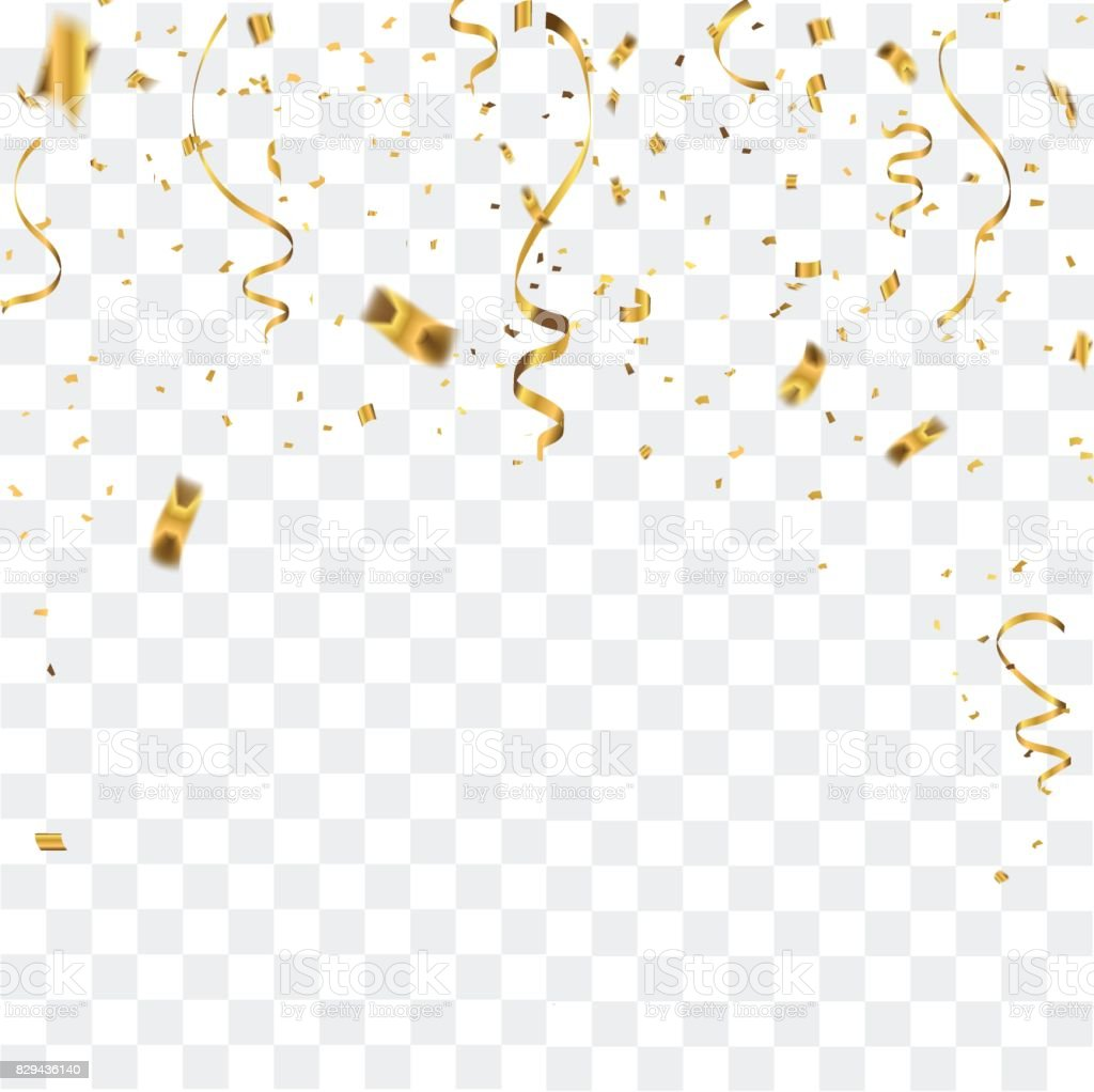 Abstract background celebration gold confetti. vector background vector art illustration
