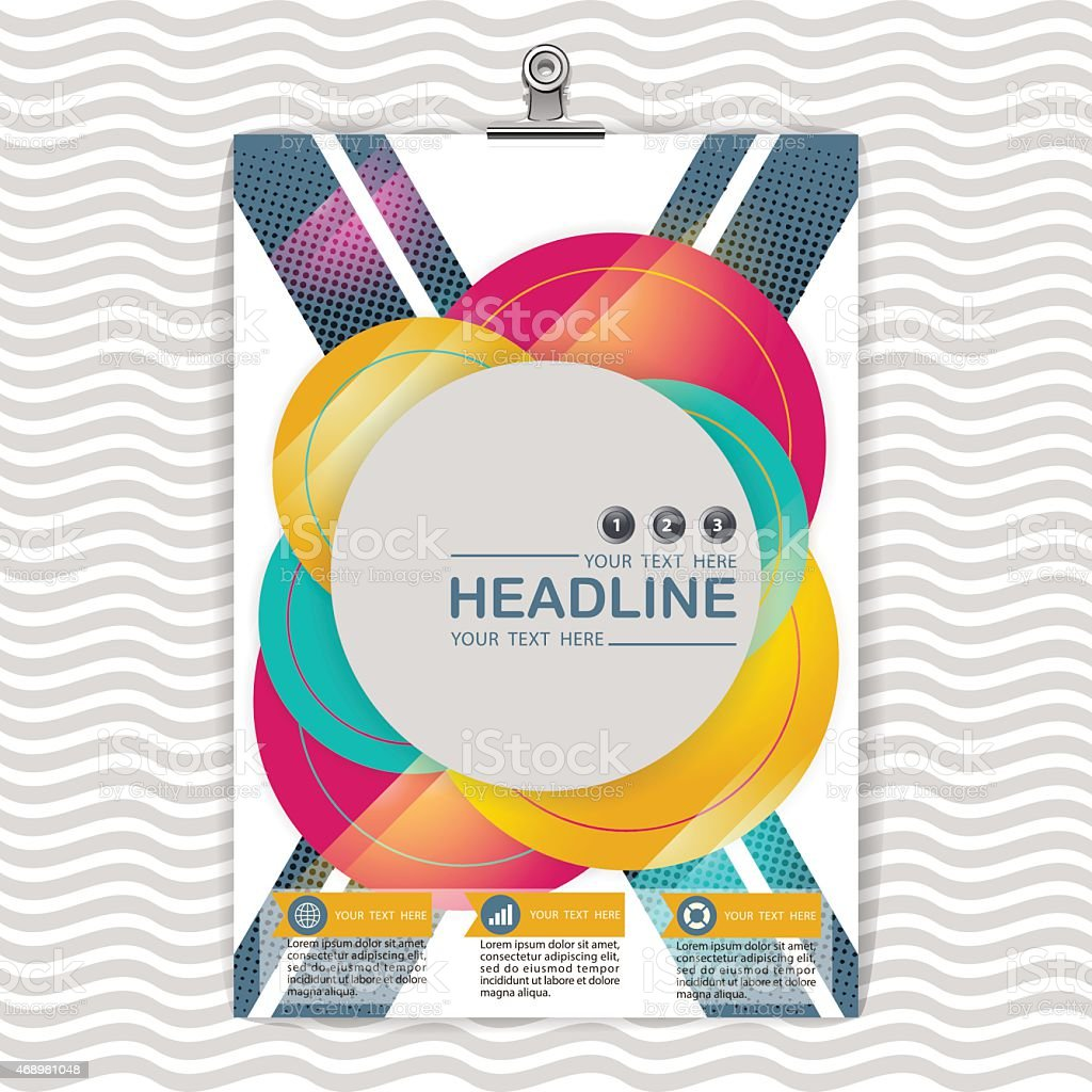 abstract background circle design business brochure template layoutvector illustration royalty free abstract