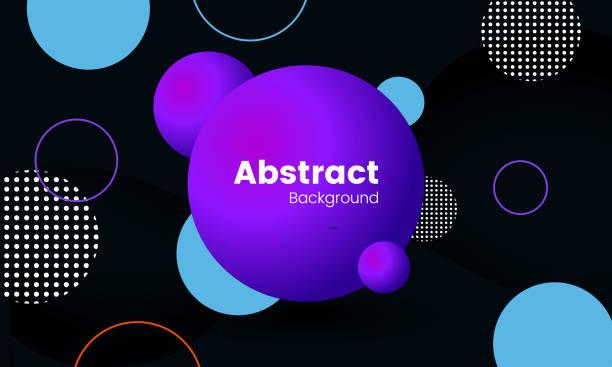 illustrazioni stock, clip art, cartoni animati e icone di tendenza di abstract background circle - tetrade