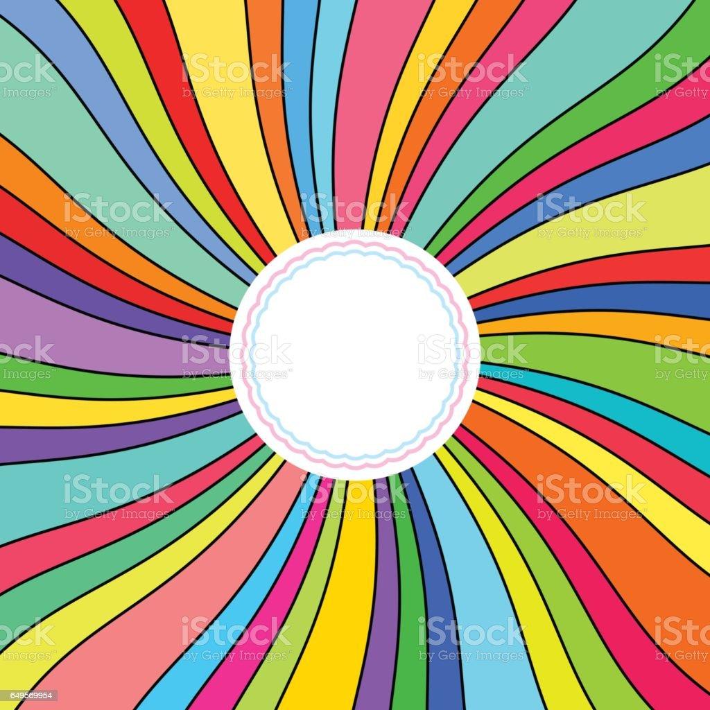 Antecedentes, rayos coloridos - ilustración de arte vectorial