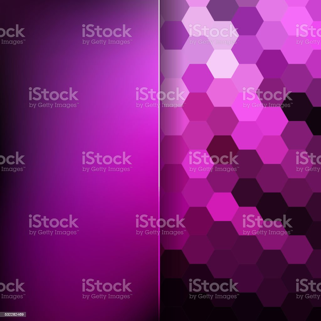 abstract background consisting of hexagons and matt glass vector art illustration