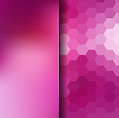 abstract background consisting of hexagons and matt glass, vector