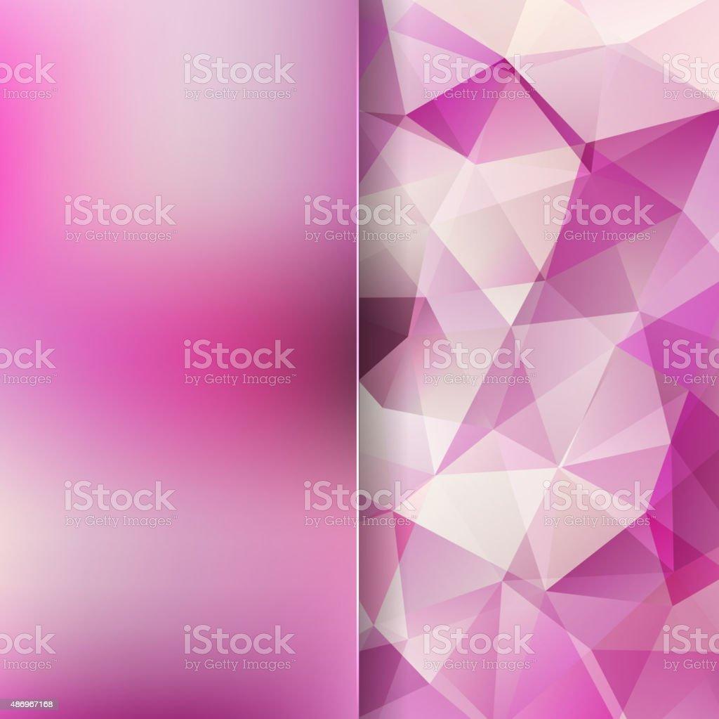 Sfondo Astratto Composta Da Triangoli Rosa Bianco E Vetro Opaco