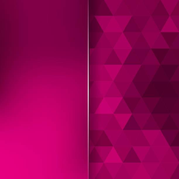 bildbanksillustrationer, clip art samt tecknat material och ikoner med abstract background consisting of triangles and matt glass - magenta