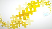 Abstract background created of yellow plus sign.