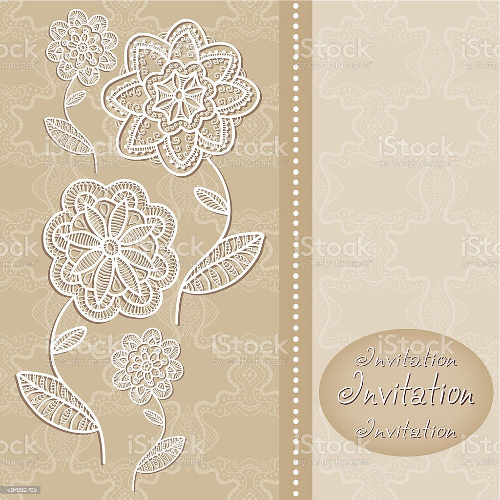 Abstract Background Decorative Graphic Flowers Wedding
