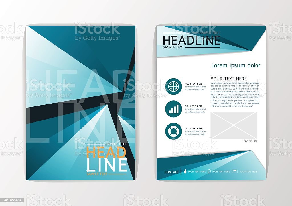 A Abstract Background Design Business Brochure Set Flyer Layout