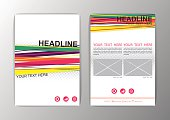 Abstract Background design. Business Corporate Brochure Template Flyer Layout. Vector