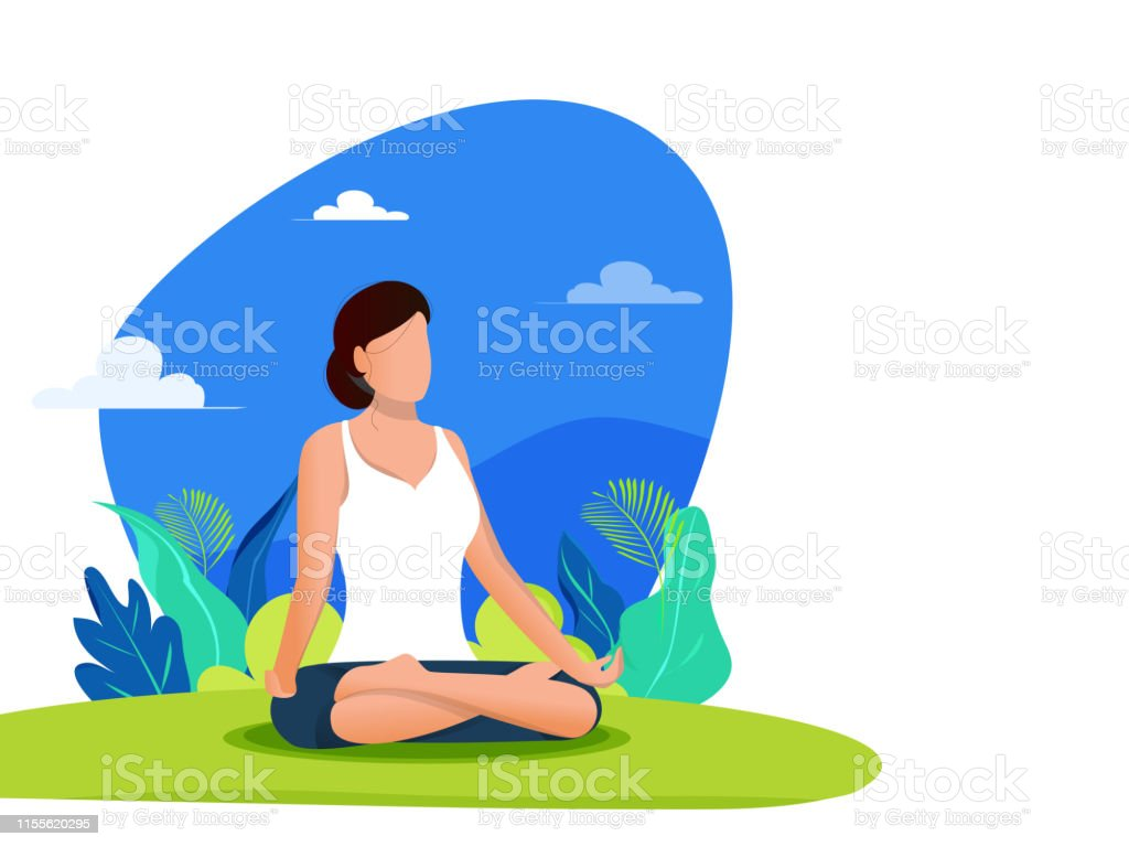 Abstract Background Design For International Yoga Day Celebration Poster Or Banner With Space For Text Stock Illustration Download Image Now Istock