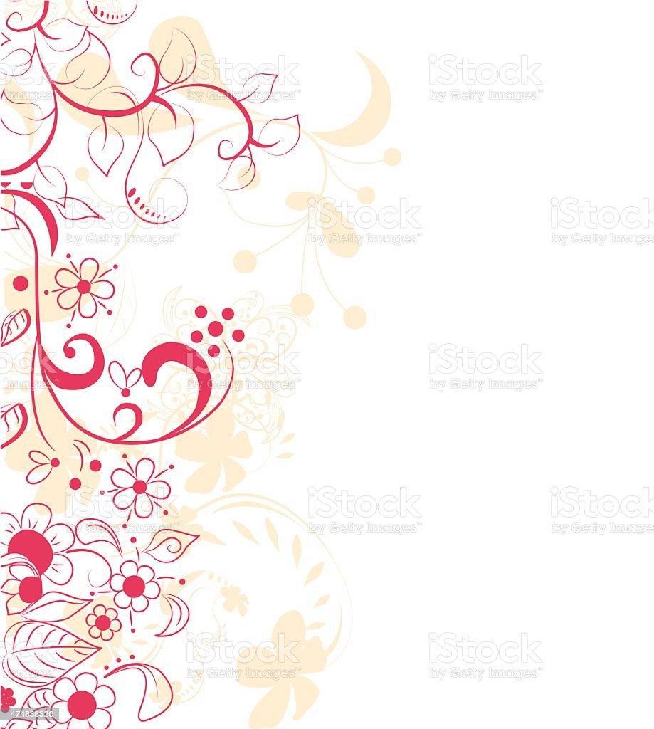 抽象的な背景デザインに花 のイラスト素材 474838326 | istock