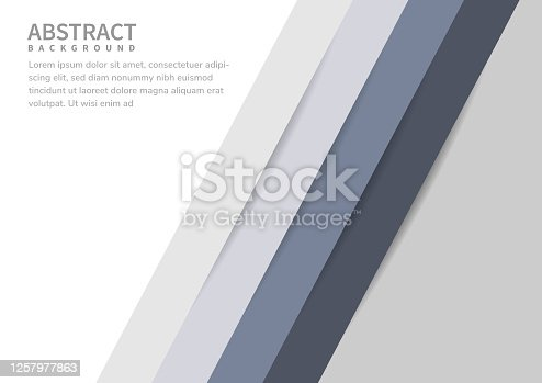 istock Abstract background diagonal lines white and gray color tone. Vector illustration 1257977863